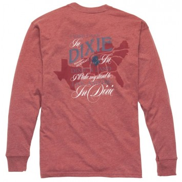 Dixie Tee: Rust Red Long Sleeve